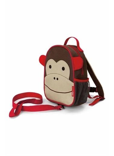 Skip Hop Skip Hop Emniyet Kemerli Sırt Çantası Maymun Kahve